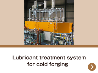 Lubricant treatment system for cold forging